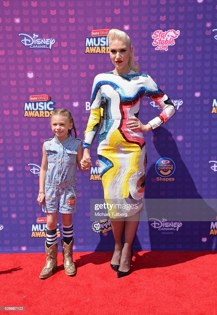 Singer Gwen Stefani and Stella Stefani attend the 2016 Radio Disney Music Awards at Microsoft Theater on April 30, 2016 in Los Angeles, California.