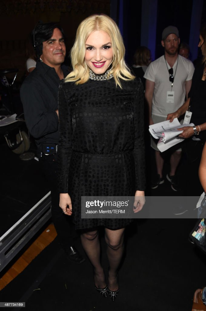 Singer <a gi-track='captionPersonalityLinkClicked' href=/galleries/search?phrase=Gwen+Stefani&family=editorial&specificpeople=156423 ng-click='$event.stopPropagation()'>Gwen Stefani</a> appears backstage at the 2014 iHeartRadio Music Awards held at The Shrine Auditorium on May 1, 2014 in Los Angeles, California. iHeartRadio Music Awards are being broadcast live on NBC.