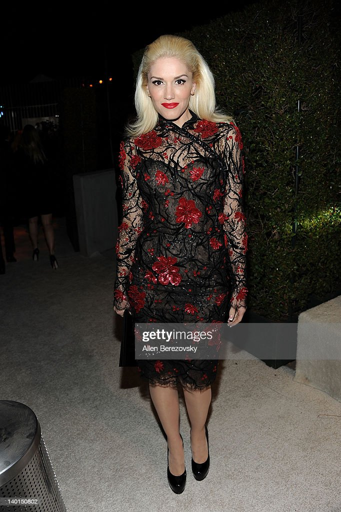 Singer <a gi-track='captionPersonalityLinkClicked' href=/galleries/search?phrase=Gwen+Stefani&family=editorial&specificpeople=156423 ng-click='$event.stopPropagation()'>Gwen Stefani</a> arrives at Audi Arrivals at 20th annual Elton John AIDS Foundation Academy Awards viewing party on February 26, 2012 in Beverly Hills, California.