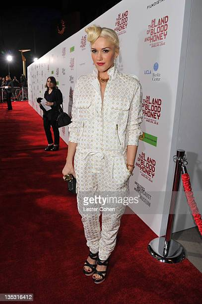 Singer Gwen Stefani arrives at 'In the Land of Blood and Honey' premiere held at ArcLight Cinemas on December 8 2011 in Hollywood California