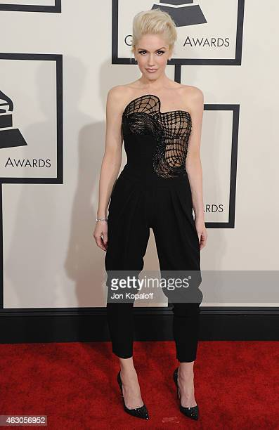 Singer Gwen Stefani arrives at the 57th GRAMMY Awards at Staples Center on February 8 2015 in Los Angeles California