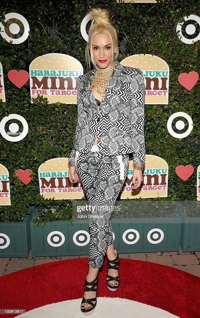 Singer <a gi-track='captionPersonalityLinkClicked' href=/galleries/search?phrase=Gwen+Stefani&family=editorial&specificpeople=156423 ng-click='$event.stopPropagation()'>Gwen Stefani</a> arrives at the launch of her Harajuku Mini for Target Collection at Jim Henson Studios on November 12, 2011 in Los Angeles, California.