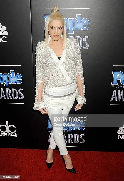 Singer Gwen Stefani arrives at The PEOPLE Magazine Awards at The Beverly Hilton Hotel on December 18 2014 in Beverly Hills California