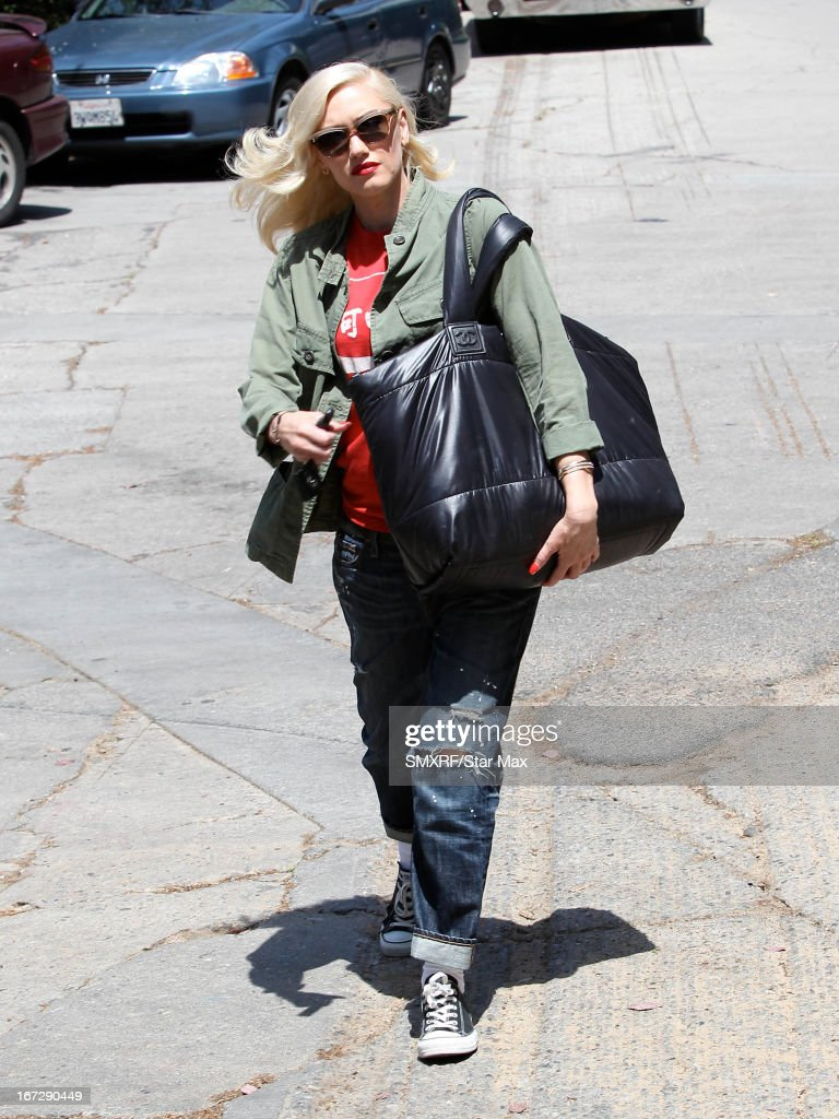 Singer Gwen Stefani as seen on April 23, 2013 in Los Angeles, California.