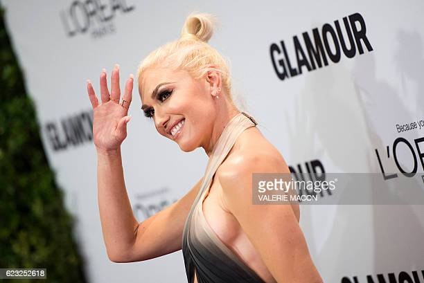 Singer Gwen Stefani attends 2016 Glamour Women Of The Year Awards in Hollywood California on November 14 2016 / AFP / VALERIE MACON