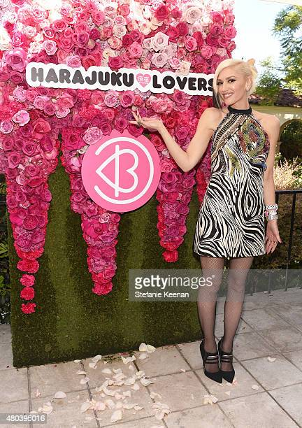 Singer Gwen Stefani attends Harajuku Lovers #PopElectric High Tea at The Ebell Club of Los Angeles on July 10 2015 in Los Angeles California
