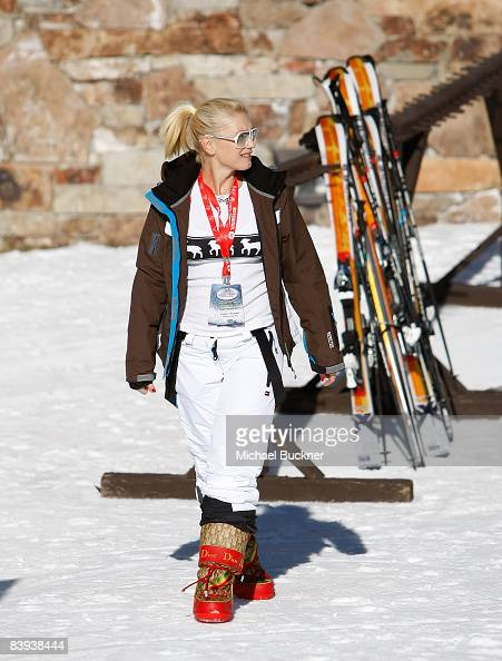 Singer Gwen Stefani attends in the snow at Juma Entertainment's 17th Annual Deer Valley Celebrity Skifest presented by Paul Mitchell and benefitting...