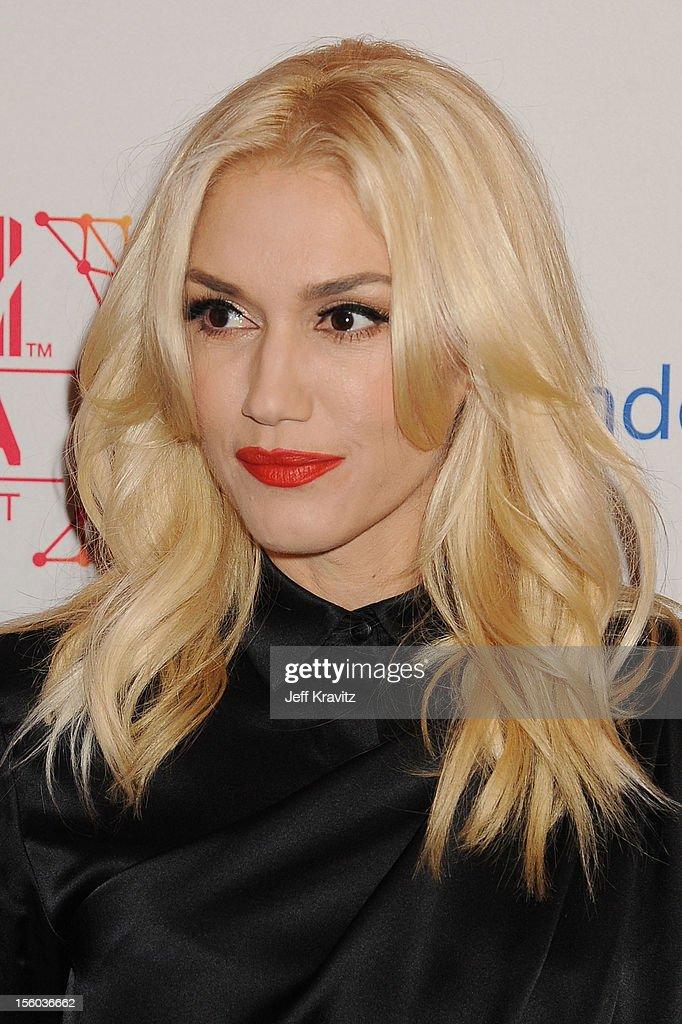 Singer Gwen Stefani attends the MTV EMA's 2012 at Festhalle Frankfurt on November 11, 2012 in Frankfurt am Main, Germany.