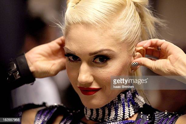Singer Gwen Stefani is seen backstage during the 2012 iHeartRadio Music Festival at MGM Grand Garden Arena on September 21 2012 in Las Vegas Nevada