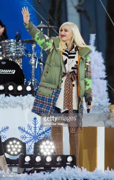 Singer Gwen Stefani is seen on November 21 2017 in New York City
