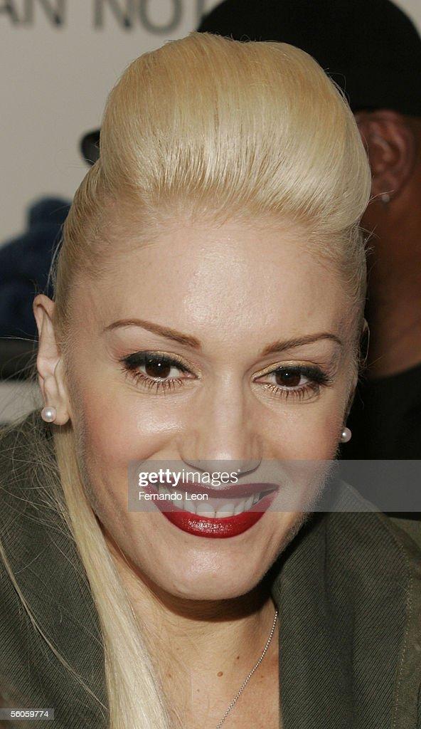 Singer Gwen Stefani launches LAMB men's sneaker line at Barney's on November 2 2005 in New York City