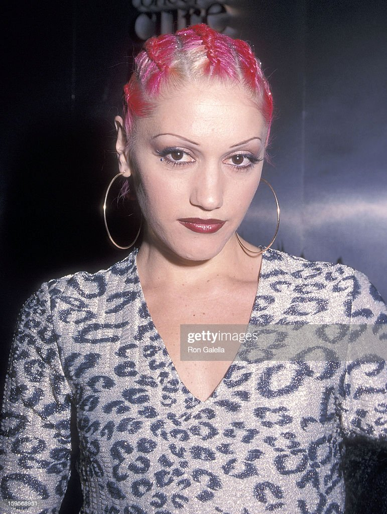 Singer Gwen Stefani of No Doubt attends the New York Fall 2000 Fashion Week: Vivienne Westwood Fashion Show on February 10, 2000 at Bryan Park in New York City.