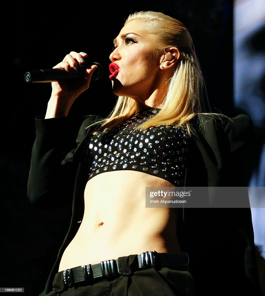 Singer Gwen Stefani of No Doubt performs onstage at the 23rd Annual KROQ Almost Acoustic Christmas at Gibson Amphitheatre on December 9, 2012 in Universal City, California.