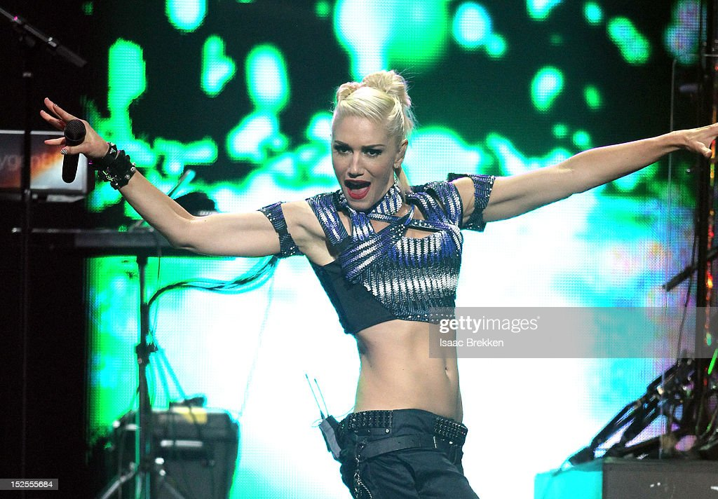 Singer Gwen Stefani of No Doubt performs onstage during the 2012 iHeartRadio Music Festival at the MGM Grand Garden Arena on September 21 2012 in Las...