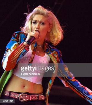 Singer Gwen Stefani of the rock group 'No Doubt' performs at the Livid Festival October 21 2000 in Brisbane Australia