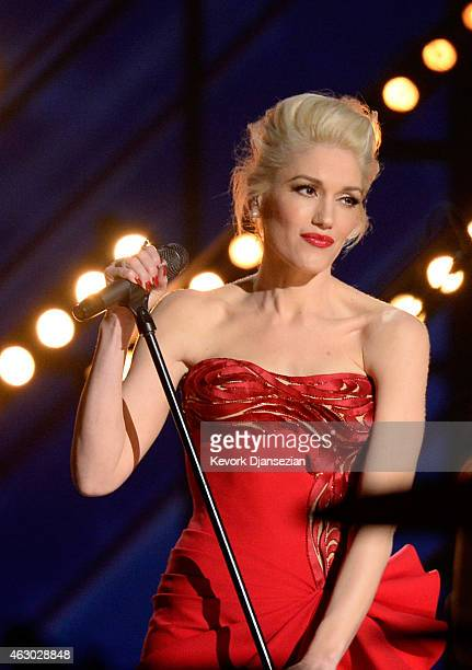 Singer Gwen Stefani performs 'My Heart Is Open' onstage during The 57th Annual GRAMMY Awards at the at the STAPLES Center on February 8 2015 in Los...