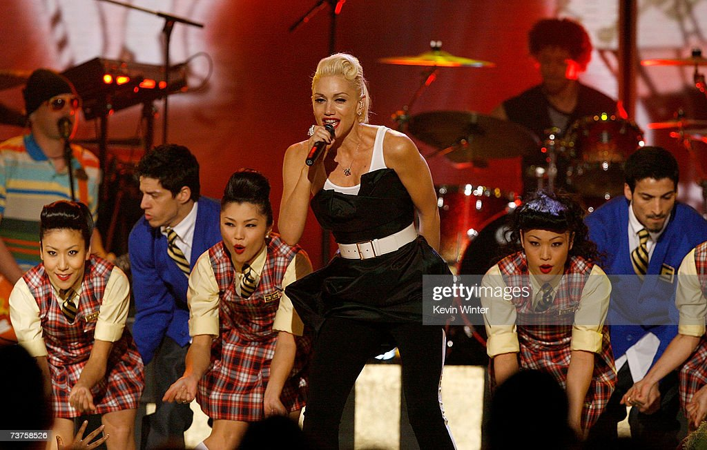 Singer Gwen Stefani performs onstage during the 20th Annual Kid's Choice Awards held at the UCLA Pauley Pavilion on March 31 2007 in Westwood...