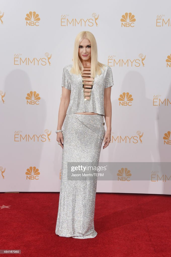 Singer Gwen Stefani poses in the press room during the 66th Annual Primetime Emmy Awards held at Nokia Theatre LA Live on August 25 2014 in Los...