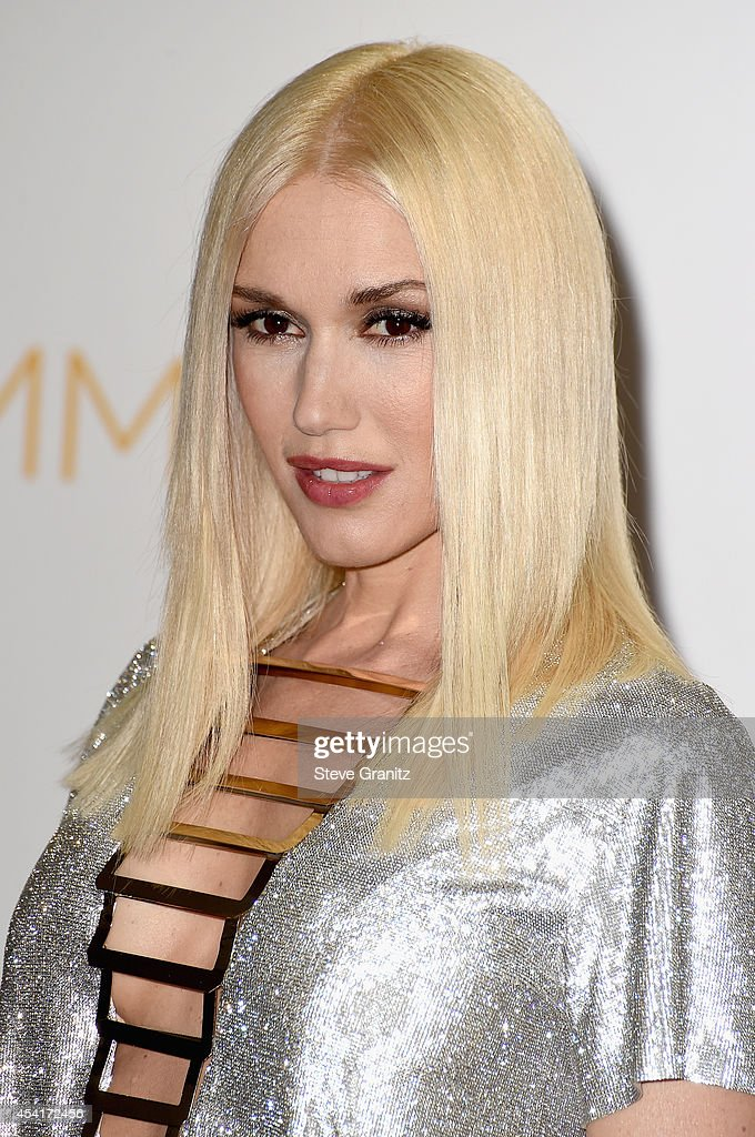 Singer Gwen Stefani poses in the press room during the 66th Annual Primetime Emmy Awards held at Nokia Theatre L.A. Live on August 25, 2014 in Los Angeles, California.