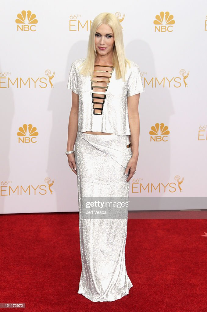 Singer Gwen Stefani poses in the press room during the 66th Annual Primetime Emmy Awards at Nokia Theatre L.A. Live on August 25, 2014 in Los Angeles, California.