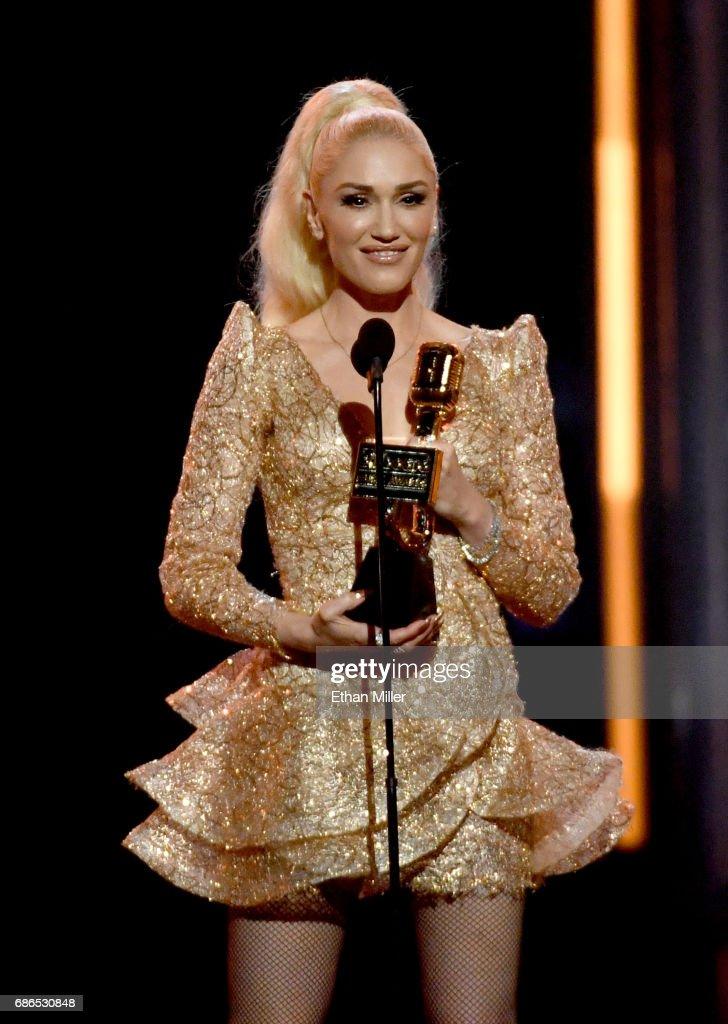 Singer Gwen Stefani speaks onstage during the 2017 Billboard Music Awards at T-Mobile Arena on May 21, 2017 in Las Vegas, Nevada.