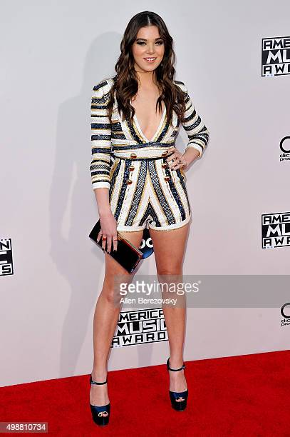Singer Hailee Steinfeld arrives at the 2015 American Music Awards at Microsoft Theater on November 22 2015 in Los Angeles California