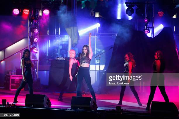 Singer Hailee Steinfeld performs on the second night of CBS RADIO's 'SPF' concert at The Boulevard Pool at The Cosmopolitan of Las Vegas on May 20...