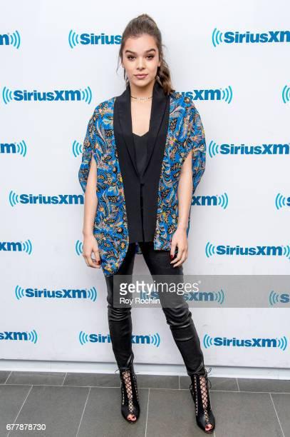 Singer Hailee Steinfeld vistis SiriusXM Hits 1's 'The Morning Mash Up' at SiriusXM Studios on May 3 2017 in New York City