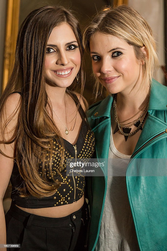 Singer Haley Pharo (L) and actress <a gi-track='captionPersonalityLinkClicked' href=/galleries/search?phrase=Ashley+Benson&family=editorial&specificpeople=594114 ng-click='$event.stopPropagation()'>Ashley Benson</a> attend Haley Pharo in concert at The Hotel Cafe on January 31, 2013 in Hollywood, California.