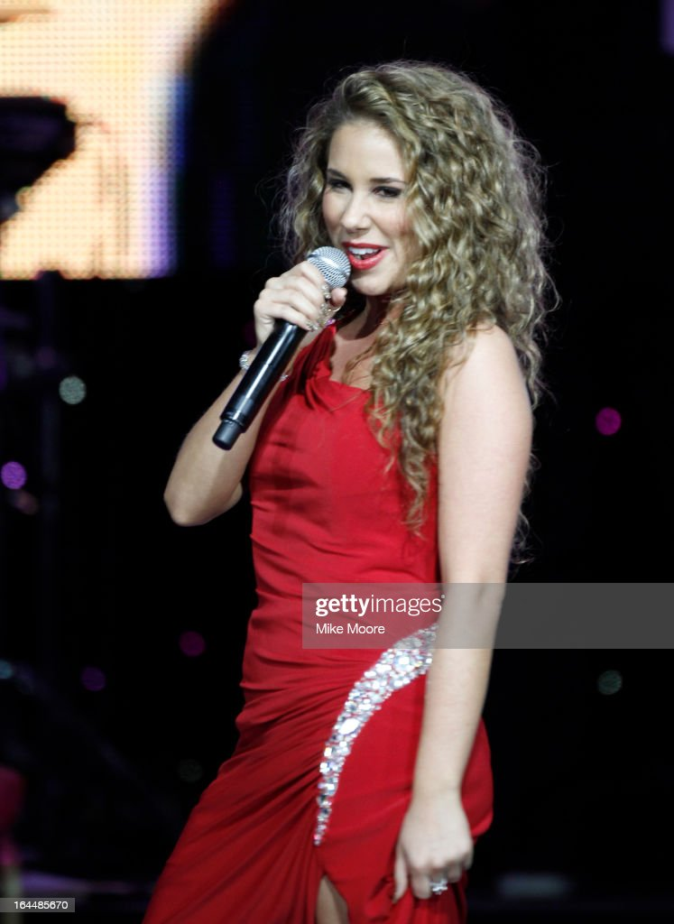 Singer Haley Reinhart attends Muhammad Ali's Celebrity Fight Night XIX at JW Marriott Desert Ridge Resort & Spa on March 23, 2013 in Phoenix, Arizona.
