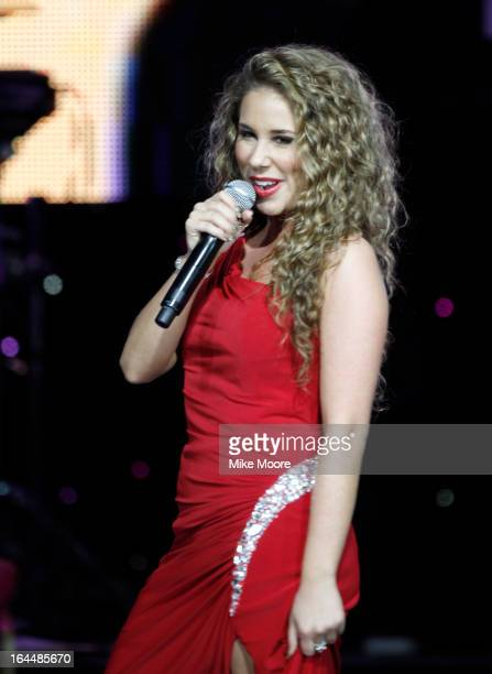 Singer Haley Reinhart attends Muhammad Ali's Celebrity Fight Night XIX at JW Marriott Desert Ridge Resort Spa on March 23 2013 in Phoenix Arizona