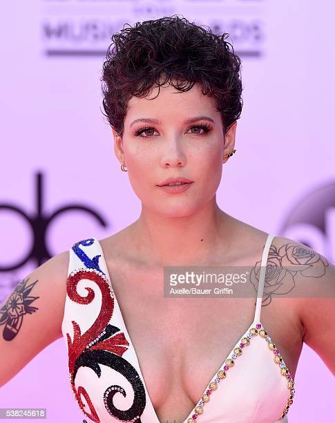 Singer Halsey arrives at the 2016 Billboard Music Awards at TMobile Arena on May 22 2016 in Las Vegas Nevada
