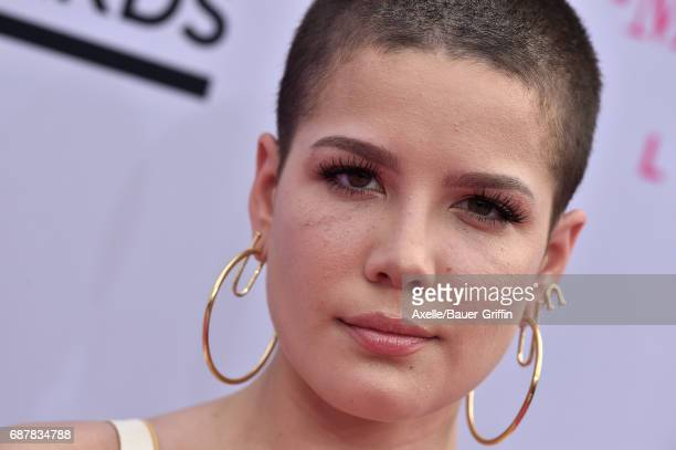 Singer Halsey arrives at the 2017 Billboard Music Awards at TMobile Arena on May 21 2017 in Las Vegas Nevada