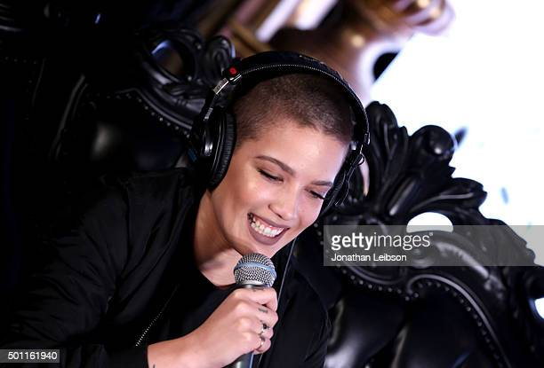 Singer Halsey attends 1067 KROQ Almost Acoustic Christmas 2015 at The Forum on December 12 2015 in Los Angeles California