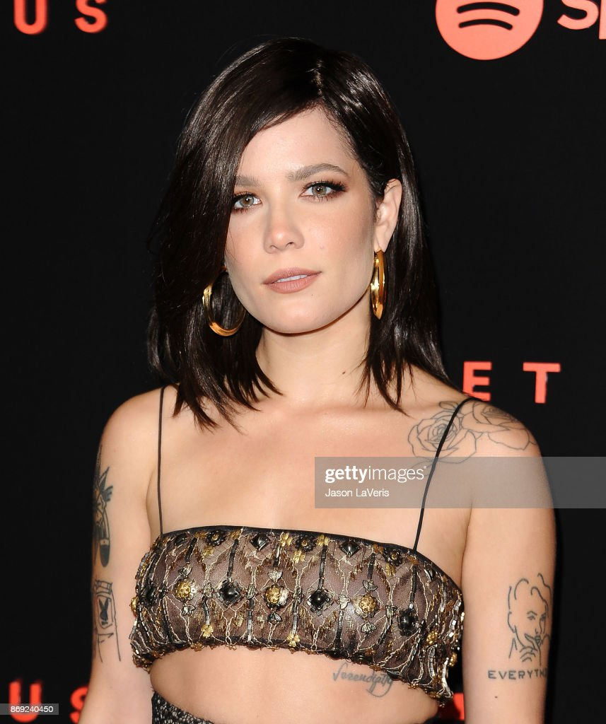 Singer Halsey attends Spotify's inaugural Secret Genius Awards at Vibiana Cathedral on November 1, 2017 in Los Angeles, California.