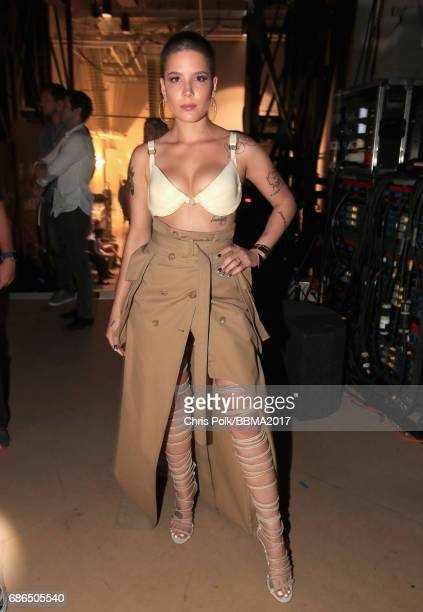 Singer Halsey attends the 2017 Billboard Music Awards at TMobile Arena on May 21 2017 in Las Vegas Nevada