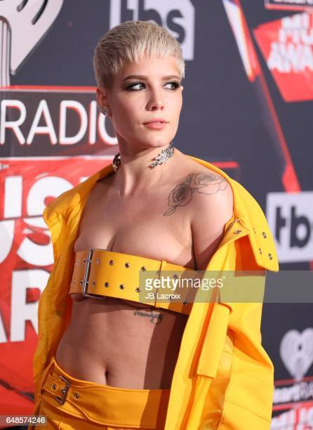 Singer Halsey attends the 2017 iHeartRadio Music Awards at The Forum on March 5 2017 in Inglewood California