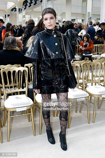 Singer Halsey attends the Chanel show as part of the Paris Fashion Week Womenswear Fall/Winter 2016/2017 on March 8 2016 in Paris France