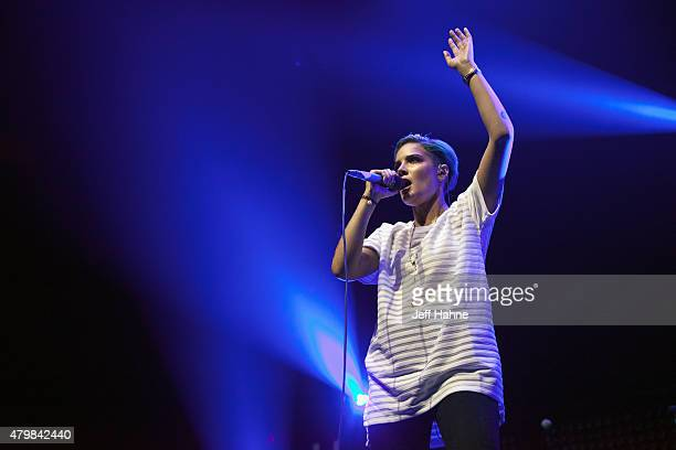 Singer Halsey performs at Time Warner Cable Arena on July 7 2015 in Charlotte North Carolina