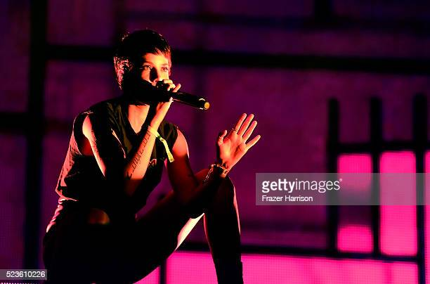 Singer Halsey performs onstage during day 2 of the 2016 Coachella Valley Music Arts Festival Weekend 2 at the Empire Polo Club on April 23 2016 in...
