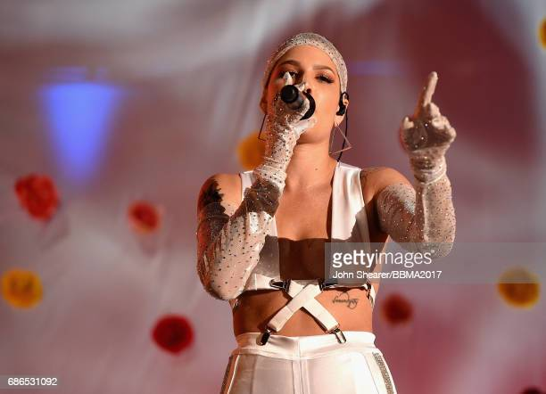 Singer Halsey performs onstage during the 2017 Billboard Music Awards at TMobile Arena on May 21 2017 in Las Vegas Nevada