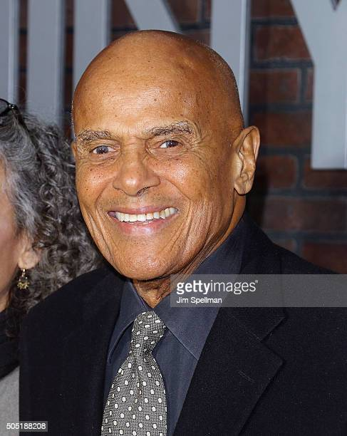 Singer Harry Belafonte attends the 'Vinyl' New York premiere at Ziegfeld Theatre on January 15 2016 in New York City