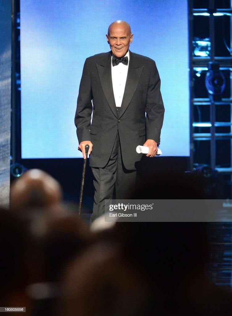 Singer Harry Belafonte, Spingarn Medal honoree, speaks onstage during the 44th NAACP Image Awards at The Shrine Auditorium on February 1, 2013 in Los Angeles, California.