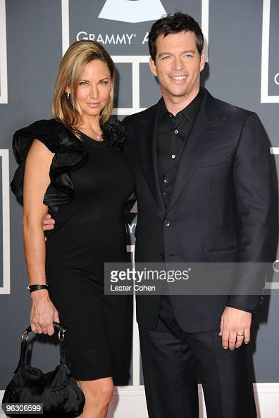 Singer harry connick jr and wife jill goodacre arrive at the 52nd