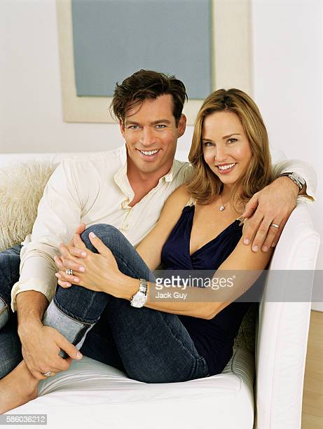 Singer Harry Connick Jr and wife/model Jill Goodacre are photographed for Redbook Magazine in 2006 in Los Angeles California