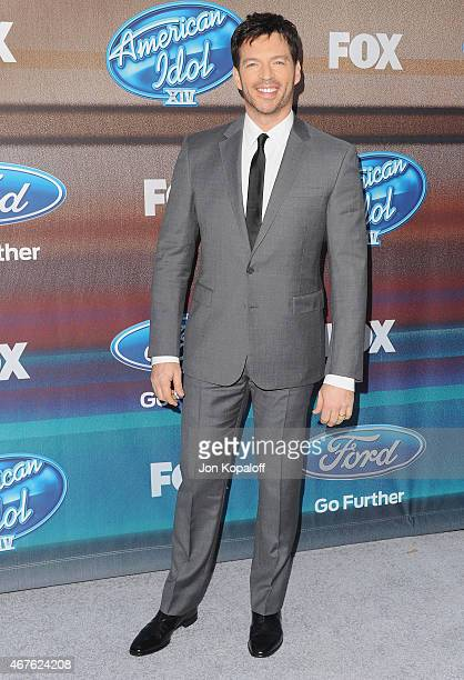 Singer Harry Connick Jr arrives at 'American Idol XIV' Finalist Party at The District Restaurant on March 11 2015 in Los Angeles California