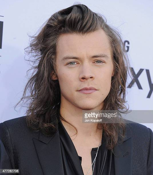 Singer Harry Styles of One Direction arrives at the 2015 Billboard Music Awards at MGM Garden Arena on May 17 2015 in Las Vegas Nevada