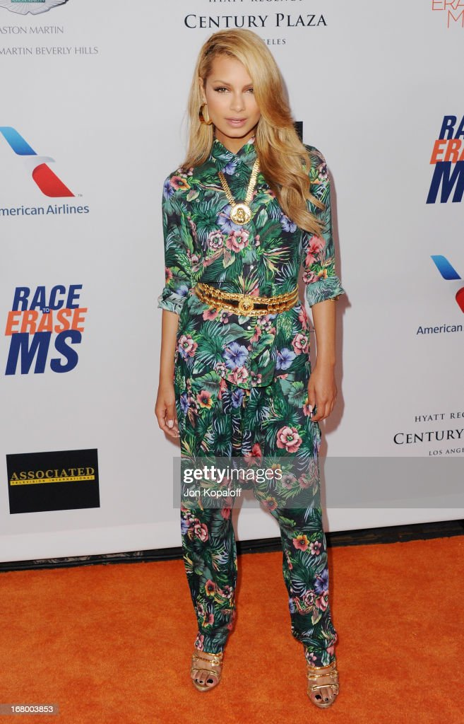 Singer Havana Brown arrives at the 20th Annual Race To Erase MS 'Love To Erase MS' Gala at the Hyatt Regency Century Plaza on May 3, 2013 in Century City, California.
