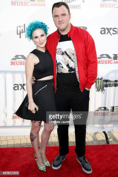 Singer Hayley Williams of Paramore and guitarist Chad Gilbert of New Found Glory attend the 2014 Gibson Brands AP Music Awards at the Rock and Roll...