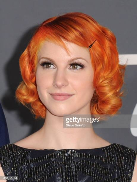 Singer Hayley Williams of Paramore arrives at the 52nd Annual GRAMMY Awards held at Staples Center on January 31 2010 in Los Angeles California